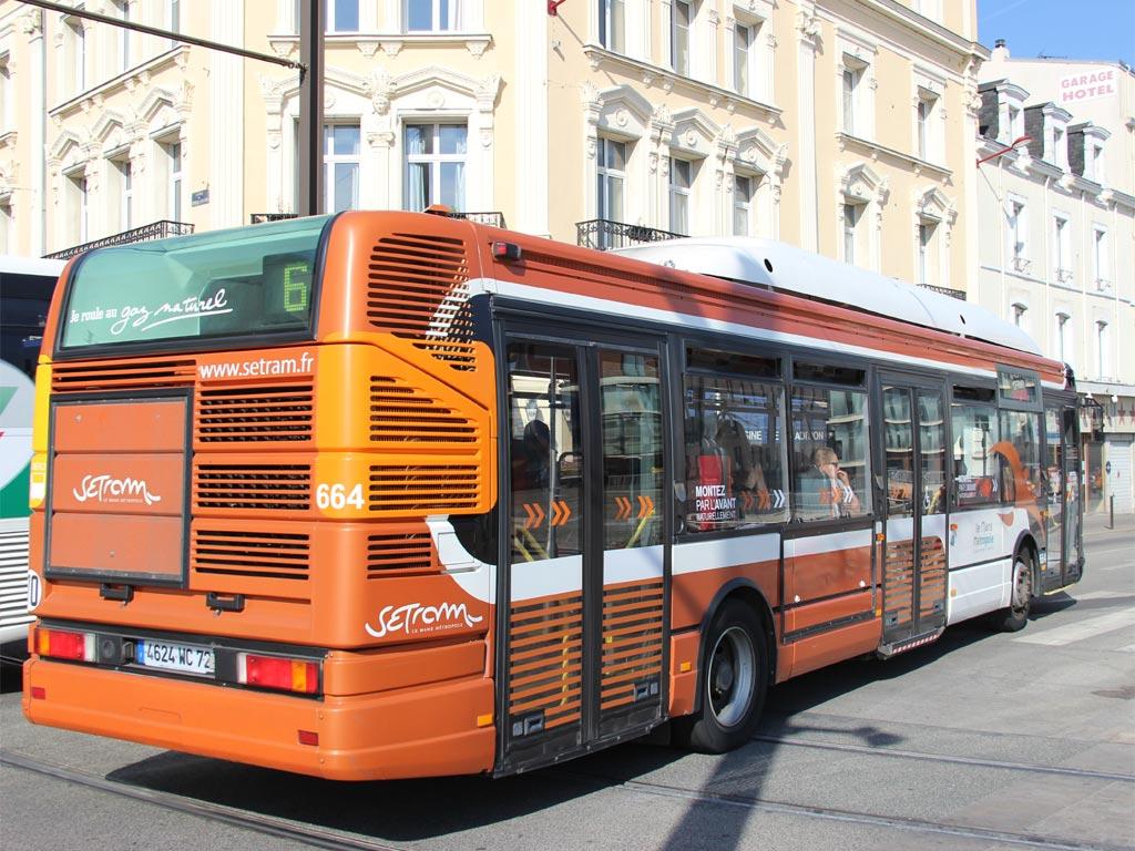 trans 39 bus phototh que autobus renault agora gaz setram le mans. Black Bedroom Furniture Sets. Home Design Ideas
