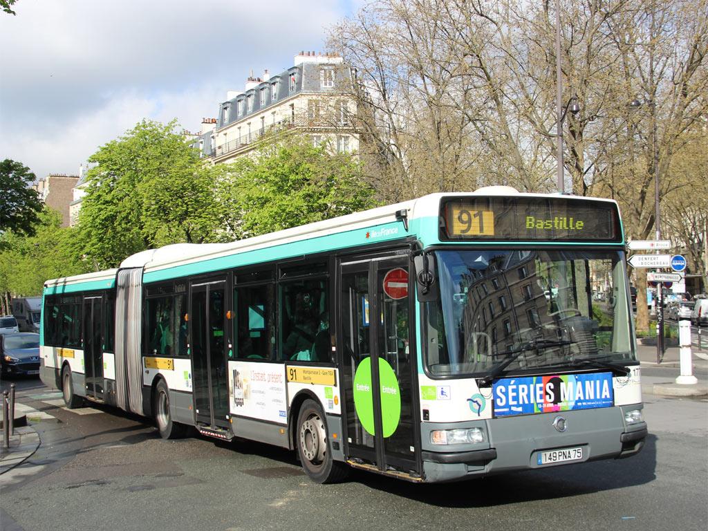 Trans Bus Phototh 232 Que Autobus Irisbus Agora L Ratp