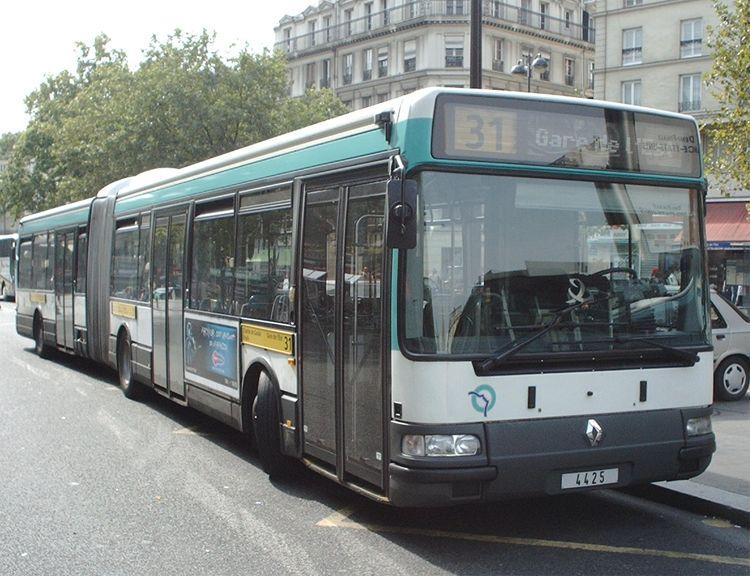 Trans Bus Phototh 232 Que Autobus Renault Agora L Ratp