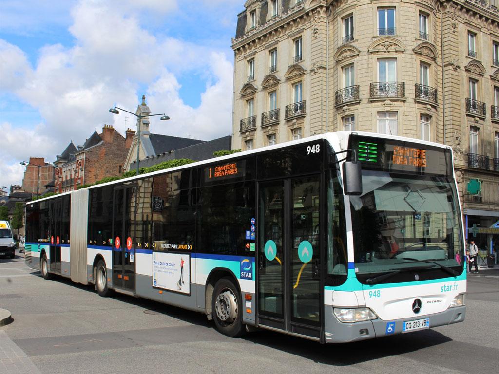 trans 39 bus phototh que autobus mercedes citaro g star rennes. Black Bedroom Furniture Sets. Home Design Ideas