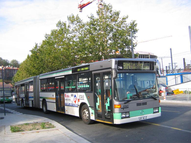 trans 39 bus phototh que autobus mercedes o 405 gn stas st etienne. Black Bedroom Furniture Sets. Home Design Ideas