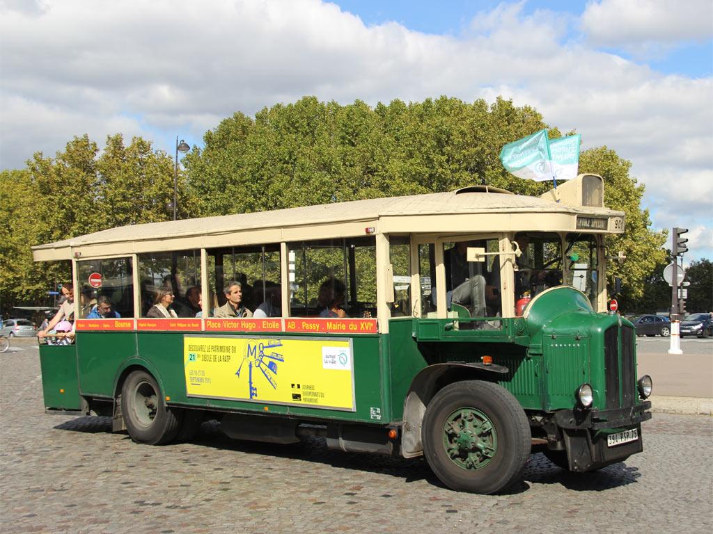Trans Bus Phototh 232 Que Autobus Renault Tn4 Paris