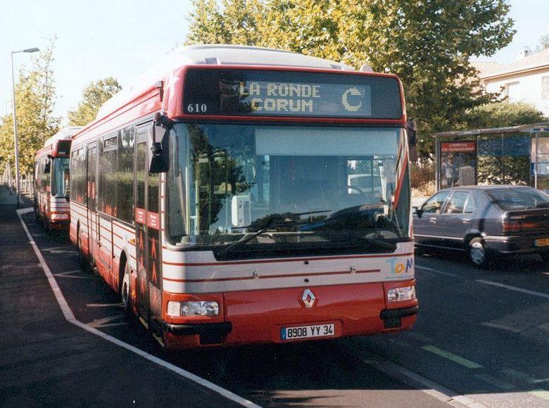 trans 39 bus phototh que autobus renault agora gnv tam montpellier. Black Bedroom Furniture Sets. Home Design Ideas