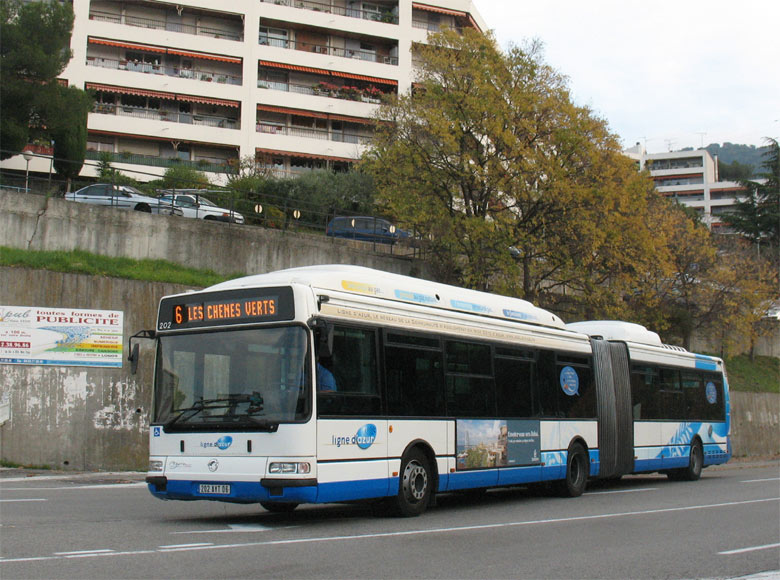 trans 39 bus phototh que autobus irisbus agora l gnv ligne d 39 azur nice. Black Bedroom Furniture Sets. Home Design Ideas