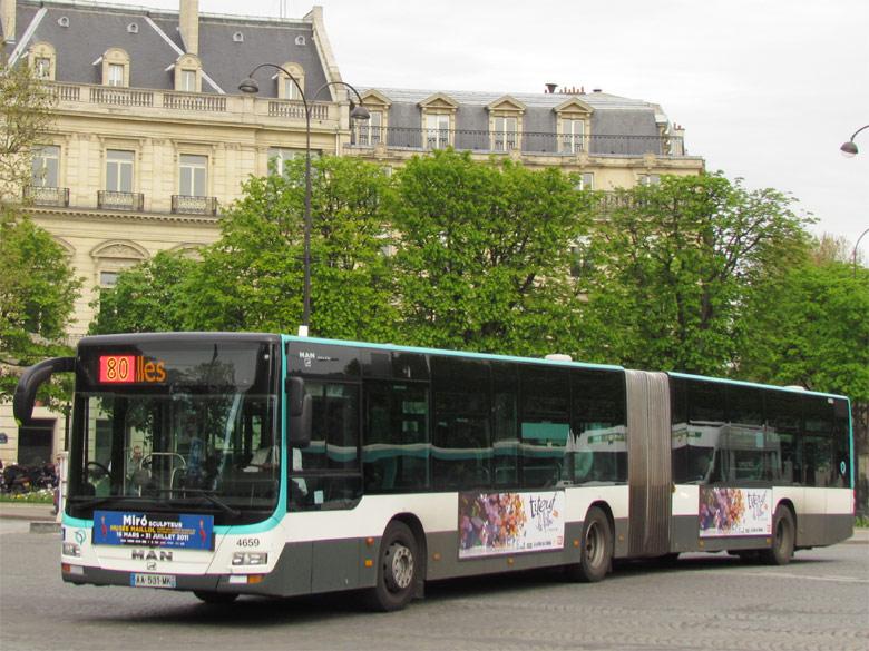 Trans Bus Phototh 232 Que Autobus Man Lion S City G Ratp