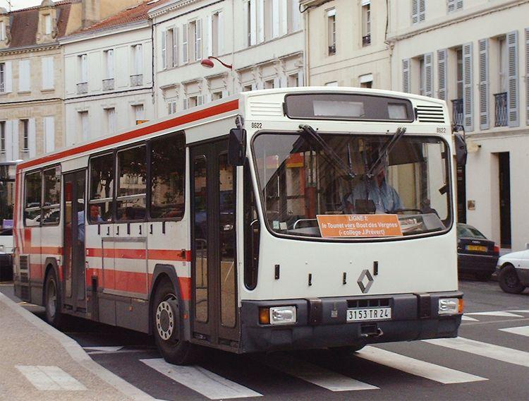 trans 39 bus phototh que autobus renault pr 100 2 tub bergerac. Black Bedroom Furniture Sets. Home Design Ideas