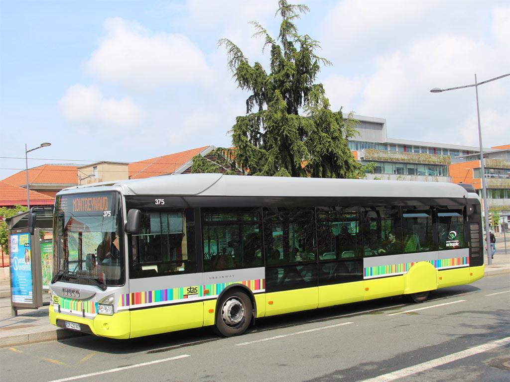 trans 39 bus phototh que autobus iveco urbanway stas saint etienne. Black Bedroom Furniture Sets. Home Design Ideas