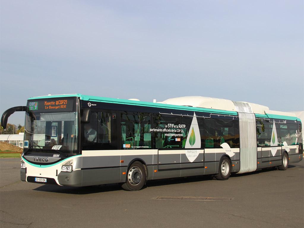 Trans Bus Phototh 232 Que Autobus Iveco Urbanway 18 Ratp Navette Cop21